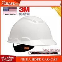 Mũ bảo hộ 3M H701R nón bảo hộ lao động cao cấp nhựa ABS siêu cứng, lồng nón điều chỉnh được độ cao chính hãng 3M