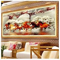 Tranh   Bát Mã - Tranh Gỗ Treo Phòng Khách BM003124