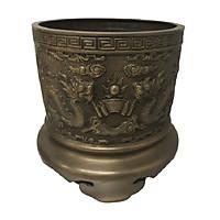Bát hương giả cổ khắc hoa văn sang trọng - đồ thờ- AN13142
