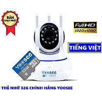 Camera wifi Yoosee 3 Râu xoay 360 trong nhà FullHD 1080 - Hàng Chính Hãng