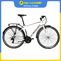 Xe đạp đường phố Touring Cavanio FOCUS 700C Trắng Nâu