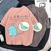 Áo phông, áo thun nam nữ form rộng tay lỡ Unisex KHỦNG LONG SI TÌNH Từ 50-70kg