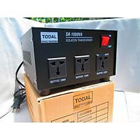 Biến áp xuyến cách ly TODAL-  1kVA ngõ ra 220v, 120v, 100v dây đồng