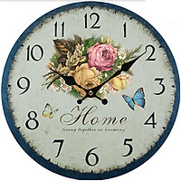Đồng hồ treo tường size 30cm Vintage Phong cách Châu Âu DH19 mẫu bán chạy năm nay