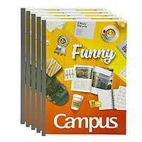 Lốc 5 quyển vở kẻ ngang 200 trang B5 Campus NB-BGIF200 màu cam
