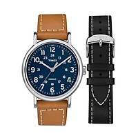 Đồng hồ Nam Timex Weekender 2-Piece Leather Strap Watch Gift Set - TWG019200 (40mm)