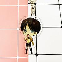 ( Mica trong acrylic ) Móc khóa Attack on Titan Đại chiến Titan anime chibi