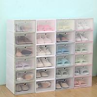[Size Lớn 33*24*14 cm] Combo Hộp Đựng Giày Sneaker, Hộp Bảo Quản Giày Dép Nam Nữ Đa Năng - Hộp Đựng Giày Nhựa Cao Cấp - Nắp Trong Suốt - Tháo, Lắp, Di Chuyển Dễ Dàng.