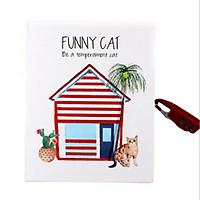 Sổ nhật ký cho bé có khoá số Funny Cat