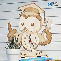 Đồng hồ để bàn làm việc, bàn học -  Cú tốt nghiệp - quà tặng ý nghĩa cho bạn bè, người thân