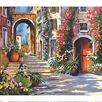 Tranh sơn dầu vẽ tay Góc phố OP029