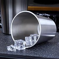Ly Cốc Uống Nước Inox 304 Cao Cấp tiện dụng Thích hợp cho uống Nước Ngọt, Bia lạnh  hay Cafe đều được Màu inox nguyên bản,Kích Thước 9 x 12,5 cm - Cốc Inox 304 Cao Cấp