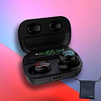 Tai Nghe Bluetooth True Wireless HBQ Q82  Q35  LED Stereo V5.0 + EDR TẶNG TÚI ĐỰNG TAI NGHE
