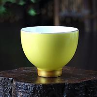 Chén uống trà men ngọc – màu vàng