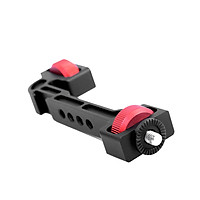 Gimbal Stabilizer Rotatable Extension Bracket Holder Support with 1/4 Inch Screw Cold Shoe Mount for Mounting Monitor
