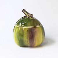 Hủ Gia Vị Kẹo Mứt Trái Dừa Bằng Sứ Cao Cấp