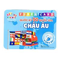 Thẻ Học Thông Minh Song Ngữ Cho Bé Phát Triển Trí Tuệ  Bộ 50 Thẻ Chủ Đề Quốc Kỳ Các Quốc Gia Châu Âu
