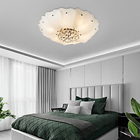Đèn chùm pha lê ốp trần phòng khách đẹp sang trọng - OPLADY01
