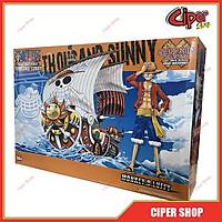 Loại 16cm - Mô hình thuyền tàu Thousand Sunny mũ rơm luffy one piêc thuyền sunny