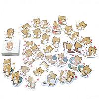 Hộp 45 miếng dán sticker mèo C-006