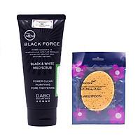 Sữa Rửa Mặt Nam Ngừa Mụn Kháng Khuẩn Cho Da Hàn Quốc Dabo Black Force(120ml) + Bông Rửa Mặt Cao Cấp Aroma– Hàng Chính Hãng