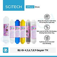 Bộ lõi số 4,5,6,7,8,9 máy lọc nước Nano Geyser TK by Scitech (Lõi T33 lớn-T33-Khoáng-Khoáng-Nano Silver-Oxy Hồng ngoại/Hydrogen) - Hàng chính hãng
