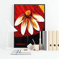 Tranh canvas treo tường hoa cúc dại họa tiết đơn giản - HTG005