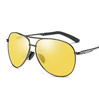Molong driving glasses men's polarizer night vision goggles driver dedicated night driving anti-headlights high beam brightening gun frame night vision goggles 8011