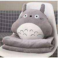 Chăn gối văn phòng 3in1 đa năng Totoro xám