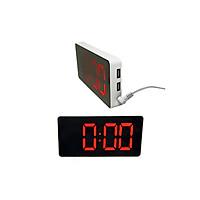 Đồng hồ màn hình LCD đề bàn, có đèn, cắm sạc USB -giao màu ngẫu nhiên( Tặng 2 nút kẹp cao su giữ dây điện- màu ngẫu nhiên)