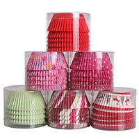 Khuôn Giấy Nướng Bánh Cupcake Jekero PVC (200 Cái - Màu Ngẫu Nhiên)