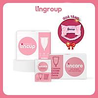 Combo cốc nguyệt san Lincup & Bột vệ sinh CNS Lincare + Tặng kèm băng đô thời trang