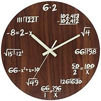Đồng hồ treo tường bằng gỗ có dạ quang với công thức toán học độc đáo Edenmaths – ĐK 30 cm
