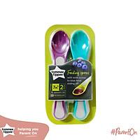 Thìa ăn dặm cho bé Tommee Tippee từ 7 tháng (set 2 thìa) - Feeding Spoon - Màu Tím/ Xanh dương