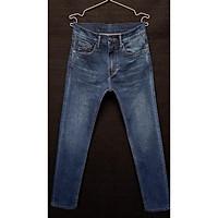 Quần jean nam C.K ống đứng màu xanh đậm - jean co giản