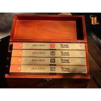 Bộ sách hộp gỗ - Tứ Thư Lãnh Đạo - Bộ sách quý giúp phát triển tư duy lãnh đạo