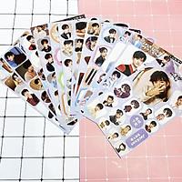 Set 12 ảnh dán TFBoys Dịch Dương Thiên Tỷ album sticker ảnh dán idol dễ thương tặng ảnh Vcone