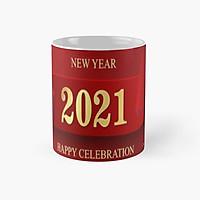 Ly cốc sứ Happy New Year 2021 cốc có quai