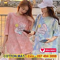 Áo thun, áo phông ngắn tay form rộng phong cách unisex kiểu áo t-shirt nhuộm loang màu bao xài không phai chống nhăn hiệu quả giặt phơi lên là thẳng tắp