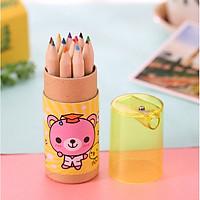 Hộp bút chì 12 màu kèm gọt bút chì HBC01 (Giao hình hộp ngẫu nhiên)