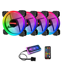 Bộ 4 Quạt + Khiển Coolmoon RGB V2 - Hàng nhập khẩu
