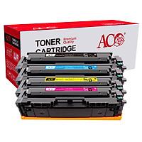 Bộ 4 hộp mực in laser màu ACO 054 (đen, vàng, xanh, hồng) cho máy in  Canon imageCLASS MF642Cdw/MF641CW/MF643/MF644/MF645/ Canon LBP622cdw/LBP621CW/LBP623CDW, HP Color M254nw/ M254dw/ M280nw/ M281fdn/ M281fdw  - Hàng nhập khẩu