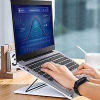 Đế Tản Nhiệt MacBook Kiêm Giá Đỡ Xếp Gọn Di Động Baseus - Hàng chính hãng