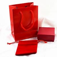 Bộ túi quà đựng trang sức cao cấp (Màu Đỏ) - 3 Món
