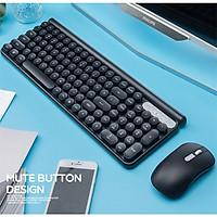 LANGTU LT400 Combo bộ bàn phím chuột không dây sạc pin dùng cho văn vòng, pc, laptop, tivi - Hàng Chính Hãng
