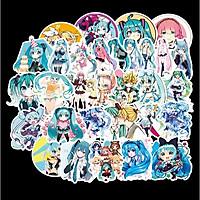 Sticker 50 miếng hình dán Hatsune miku