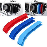 M Color for BMW 5 Series F10 F18 Sport Front 3D Plastic Kidney Grill Cover Clip
