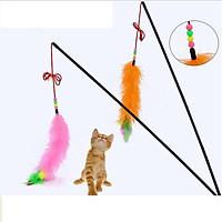 Đồ chơi cần câu cho mèo - Nhập khẩu Hàn Quốc (Giao màu ngẫu nhiên)