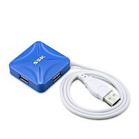 HUB chia cổng USB 2.0 SSK SHU027 từ 1 ra 4 cổng (màu ngẫu nhiên) Hàng Nhập Khẩu