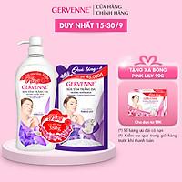 Gervenne Sữa tắm trắng da Purple Lily 900gr + TẶNG túi sữa tắm 380gr